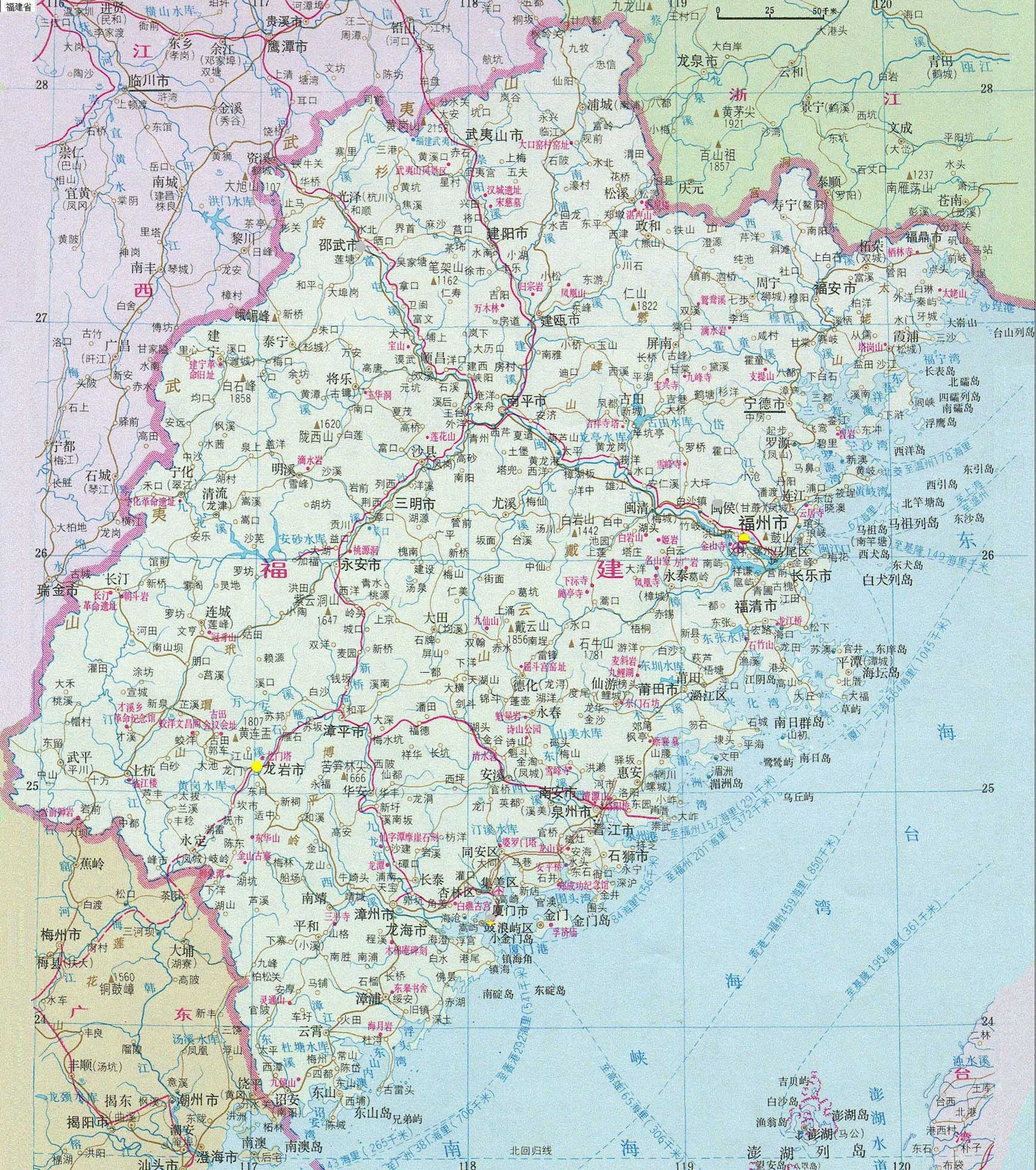 中国各省高清地图 (可放大缩小多倍)