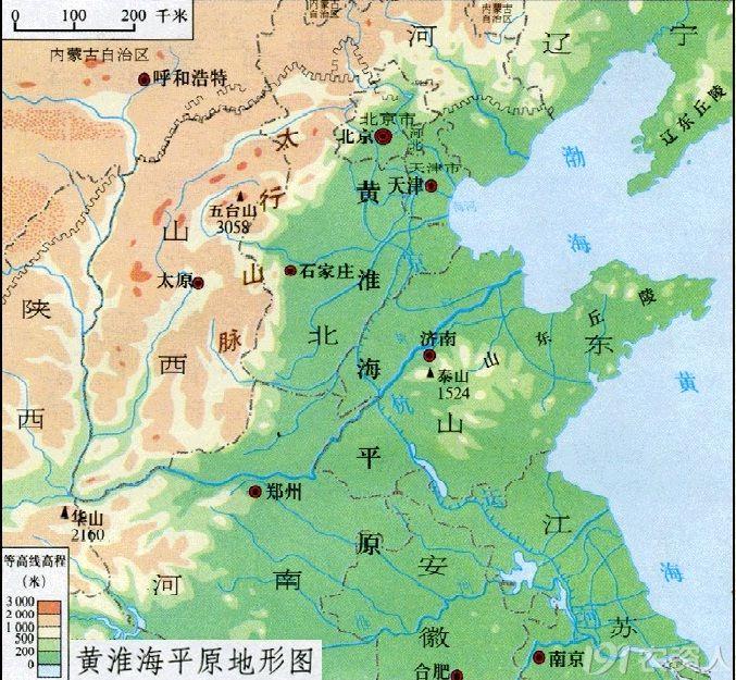 包括河北中南部,山东,河南,江苏北部,安徽北部,山西运城和临汾南部图片