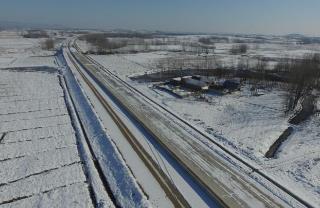 大雪后的滁淮高速