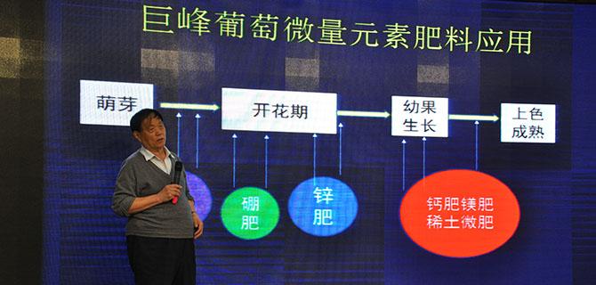 与会专家:中国农学会葡萄分会名誉会长晁无疾